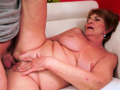 Euro grandma cocksucking and gets inserted