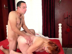 Obese grandma pounded
