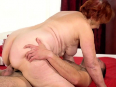 Redhead Granny Fucks Really Hard With a Hard Cock