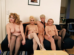 Mature housewives  with successful boy