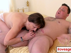 Pandora rides and juggle prettily on Seth's meaty cock