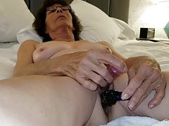 Mature Grandma  Masturbating with Anal