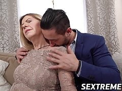Naughty granny fucked and facialized by younger stud