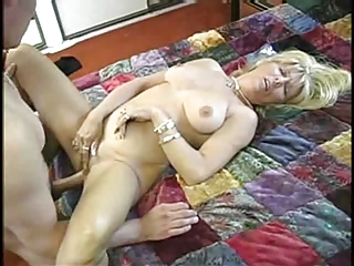 Hot Mature Blonde Granny Anal