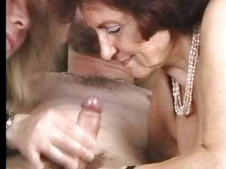 Granny in Stockings Gets some Second