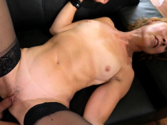 Horny old redhead pounds younger cock