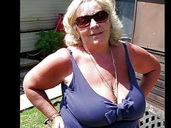 Huge Grandmother Tits Jerk Off Challenge To The Hit #3