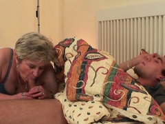 mother inlaw wakes up him for cheating lovemaking