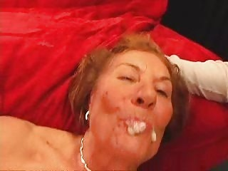 Oversexed GILF Double Teamed & Creamed