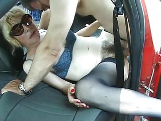 Italian granny is fucked by her lover plus a stranger