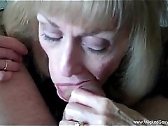 Cuckold Granny Is Delineated In the air Cum