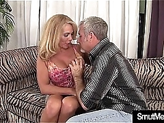 Titillating Aureate Granny fucked complying