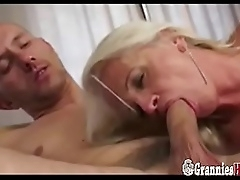 Lovable Granny Blonde Anal Be hung up on Creampie