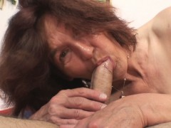 She gets startled when finds mother inlaw riding his cock