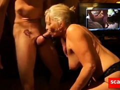Sex starved granny unfathomable cavity throats