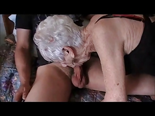 Old Demoiselle Enjoys Young Cock