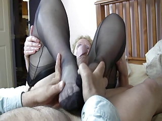 Granny make a footjob