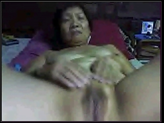 Mediocre Asian granny at bottom cam