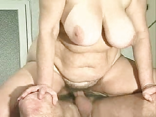 BBW granny screwing flopping jiggling tits added to belly