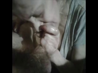 Granny hot sucks a young man