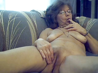 64 y.o. appealing sexy granny with ache hair