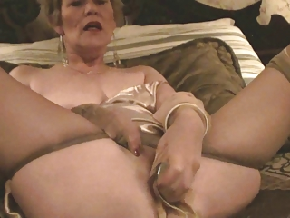 Elderly Lady, Stockings & Dildo (Masturbation)