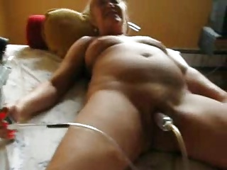Look forward my superannuated slut pumping the brush clit. Amateur older