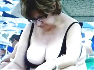 Russian Busty Matured Grannies  on the Beach! Amateur!