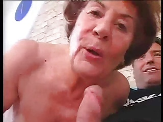 Tall German Granny in hard Anal sex with young supplicant