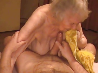 Cumshot surpassing Granny Saggy Tits With 85yo