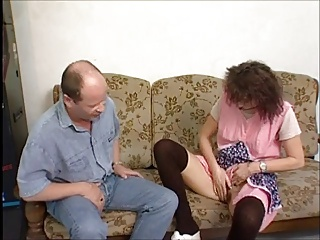Horny Granny Gets A Roger With an increment of Facial !