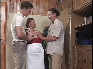 Obese Mamma BBW Granny Mathilda Gets Two Young Dicks