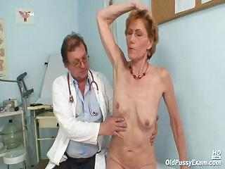 Classy superannuated nipper Mila needs gyno polyclinic examination