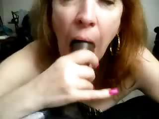 Mature Sucking Cock and Cum