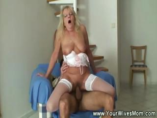 Young lad loves ancient adult pussy