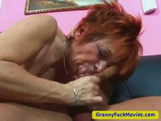 Granny sucking cock greatest extent scraping pussy