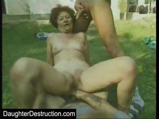Virgin lady assfucked and spermed on