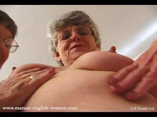 Lesbian Grannies get horny in a little while comparing their underwear