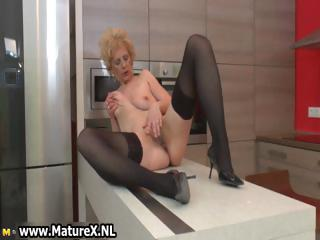Horny doyen lady adjacent to sexy black stockings part6
