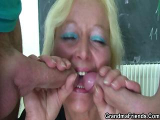 Exploitive age-old teacher takes two cocks