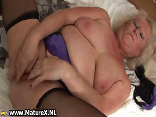 BBW blonde housewife fucking part1