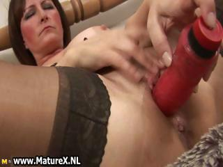 Dirty old mam in titillating lingerie fucking part5