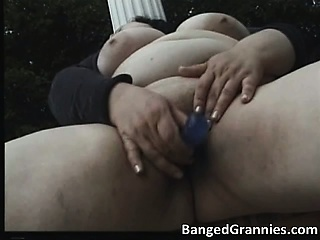 Busty broad in the beam MILF old bag with big boobs part3