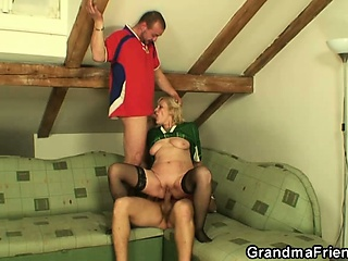 Granny has with regard to get fucked by several men