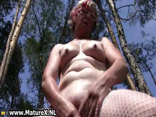 Horny old mom with glasses and sexy part4