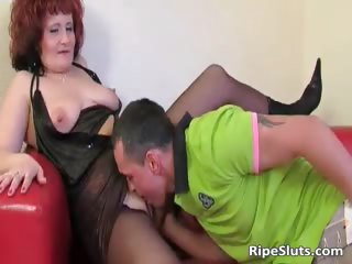 Mommy has excellent big boobs as she coils part6