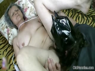 Frying grey granny gets the brush pussy transgressed part4