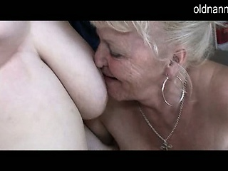 Old tribadic grandma far hairy pussy licking mature pussy
