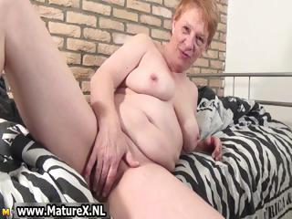 Old busty horny housewife gets part4