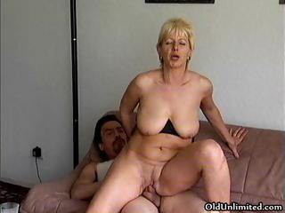 Amateur blonde adult mom loves riding part4